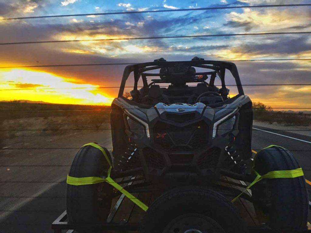 Can Am in an Arizona Desert Sunset